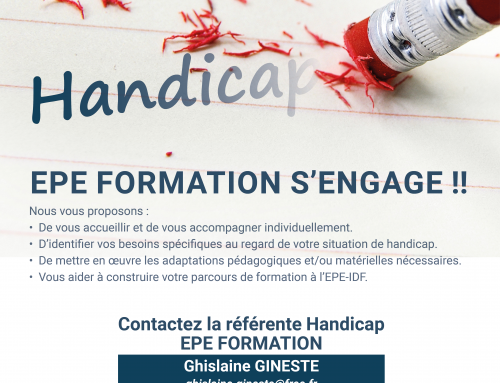HANDICAP : EPE FORMATION S'ENGAGE